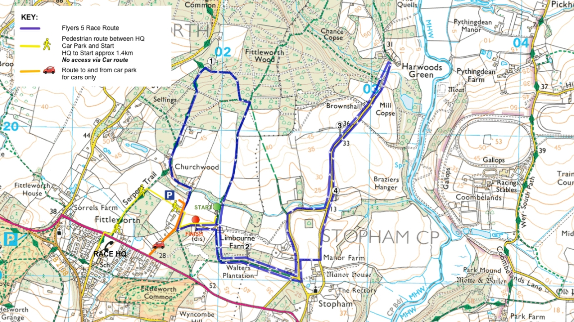 FF5 2017 Map with parking at Churchwood
